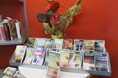Display of booklists at Parklands Library