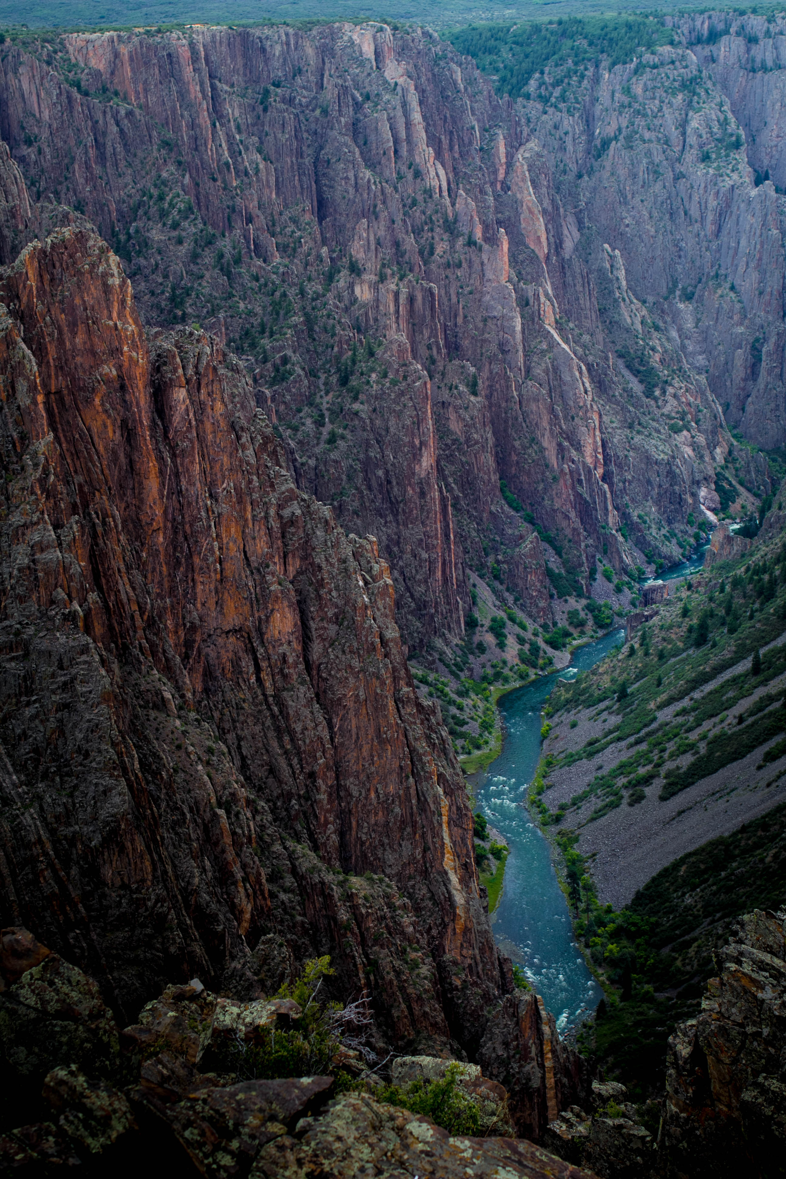 Black Canyon of the Gunnison one of the steepest canyons OC