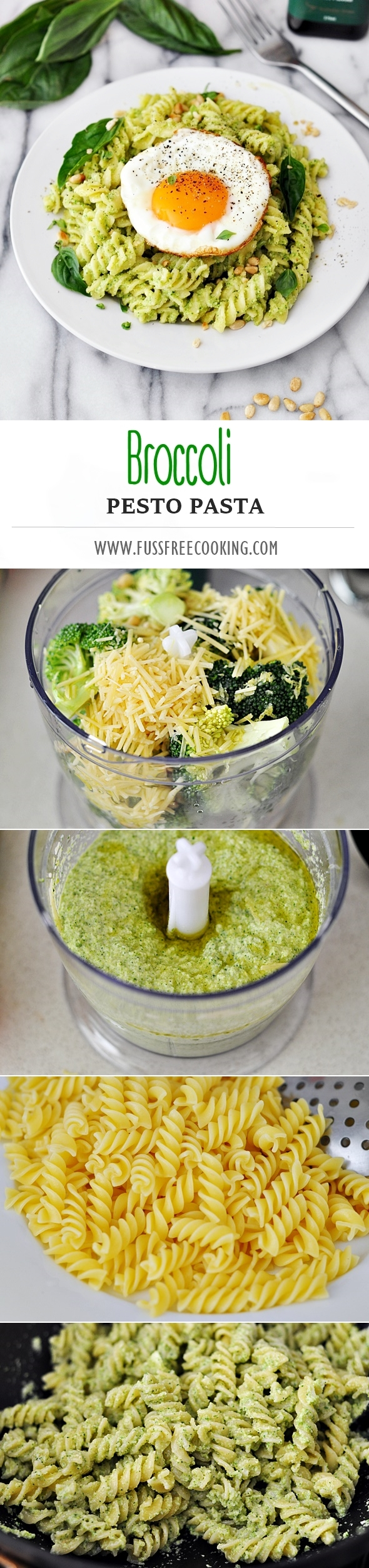 Broccoli Pesto Pasta Recipe | www.fussfreecooking.com