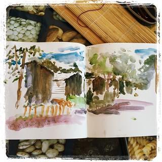 #camping #iratxe #watercolor
