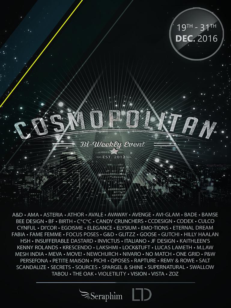 Cosmopolitan {Round 9/5} 19th - 31st December - SecondLifeHub.com