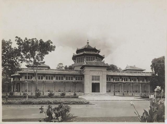 Viện Bảo Tàng Blanchard de La Brosse  tại Saigon, khoảng 1930 - Thiết kế bởi KTS Auguste Delaval, khánh thành ngày 01/01/1929
