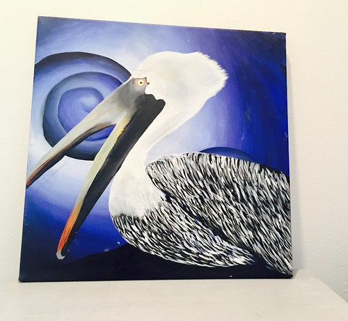 Rebecca Pons, BECCA PONS + CREATIVE, Acrylic, Pelican Blue, fine art, Abstract, Louisamystery