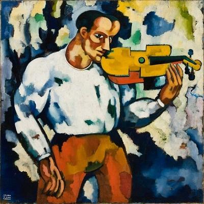 34.- Músuca surda, 1914-1915. óleo sobre tela. coleção particular em depósito no Museu Minicipal Amadeo Souza-Cardoso