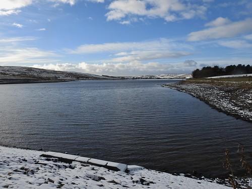 Clowbridge Reservoir near Burnley, Lancashire, England - January 2017