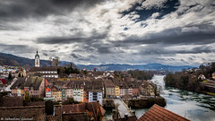 Dramatic Sky over Laufenburg