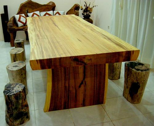 natural wooden furnishings