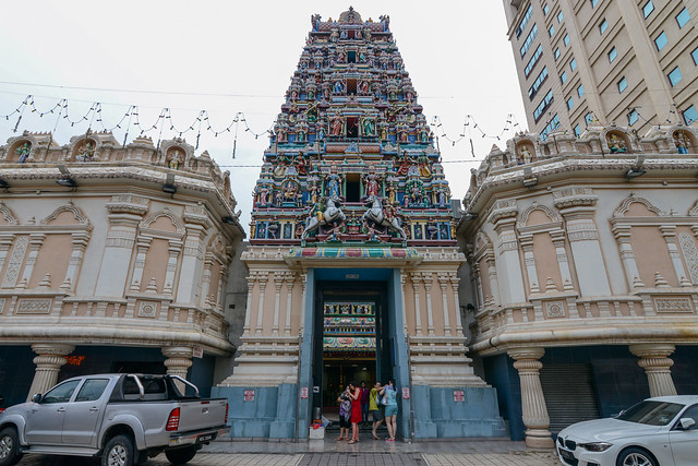 Sri Mahamariamman temple with its colourful 23m high gopuram