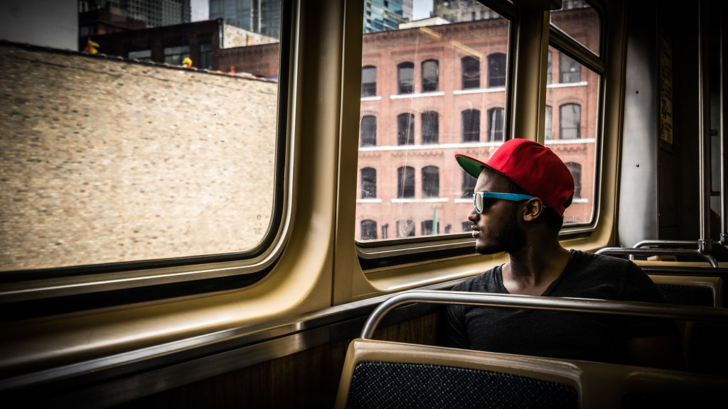 On the metro - Chicago, United States - Color street photography