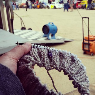 Happy Thursday Thunder. #racetrackknitting #knitstagram #nelcar #uslegendscars #knittersofinstagram #instaknit #iknitsoidontkillpeople #racing #viewfromourpit