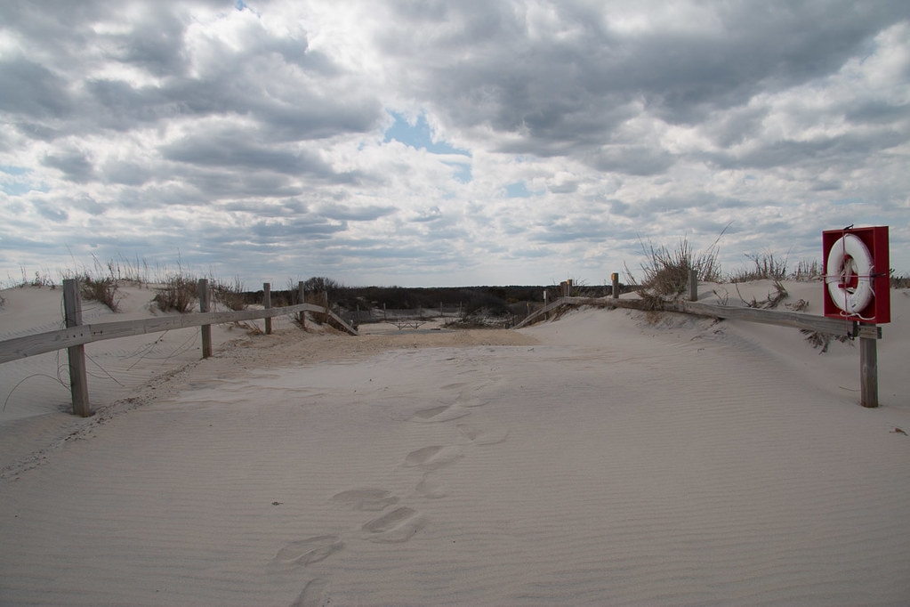 Access path to beach at Assateague Campground