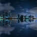 Dubai - Business Bay Panorama at Night by 030mm-photography