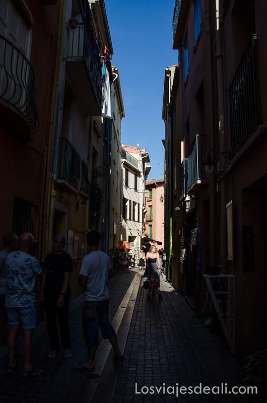 calles de Collioure y machado