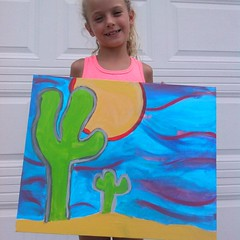 "All done!!! ""The Mommy and The Baby Cactus"" by Birdy Walsh"