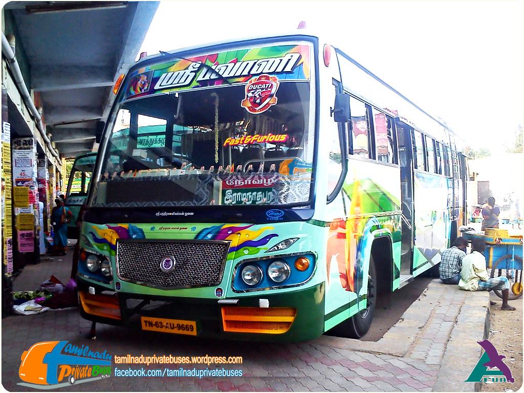 Sri Bhavani TN-63AU-9669 Route Paramakudi - Ramanathapuram - Sayalkudi.