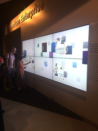 Interactive wall at Smithsonian's National Museum of American History