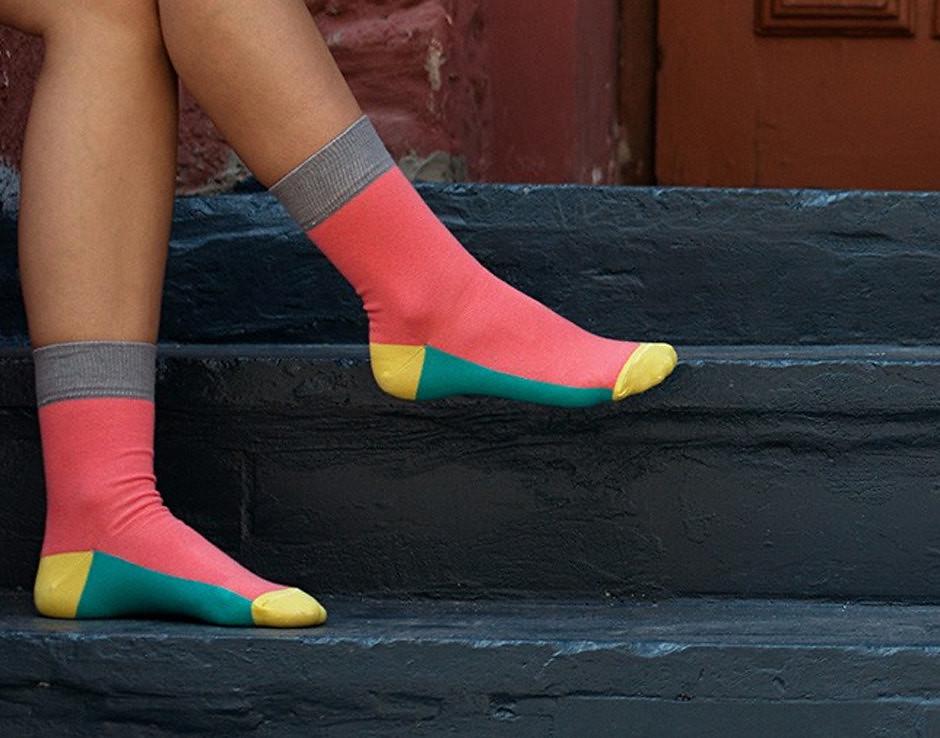 Chaussettes color-block