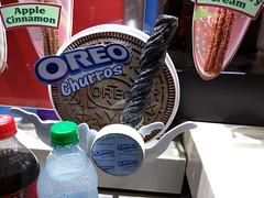 Oreo Churros sign, Disneyland, Anaheim, Orange County, California, USA