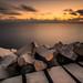 Digue du port de Nice. by Dany-de-Nice