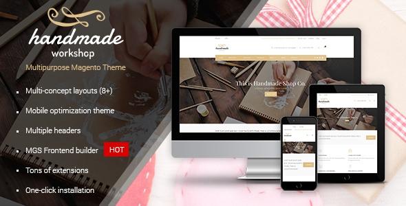 Handmade v1.0.3 – Multipurpose Magento Theme