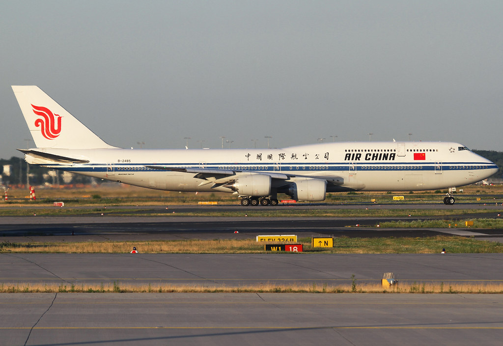 CA932 to Beijing PEK lining up on RWY07C during sunset. Second flight to Frankfurt, replacing B777. Delivered 09/2014.