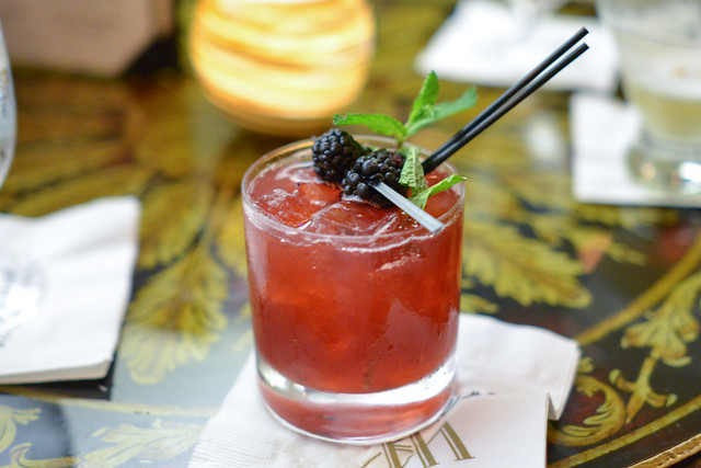 Southern Gentlemen Buffalo Trace Bourbon, Simple Syrup, Fresh Mint & Blackberries, Lemon Juice