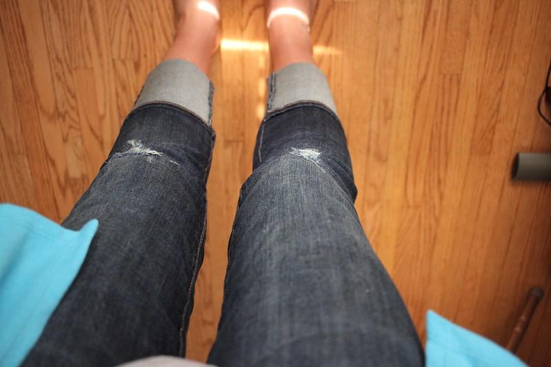 Kut From the Kloth Haiden Distressed Straight Leg Jean $88