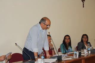 Casamassima-Gino Petroni durante il suo primo intervento del Consiglio comunale dell'era Cessa
