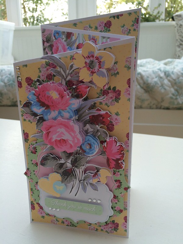 Simply Floral Z Fold Card by StickerKitten