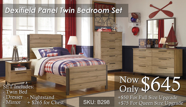 Dexifield Panel Twin Bedroom