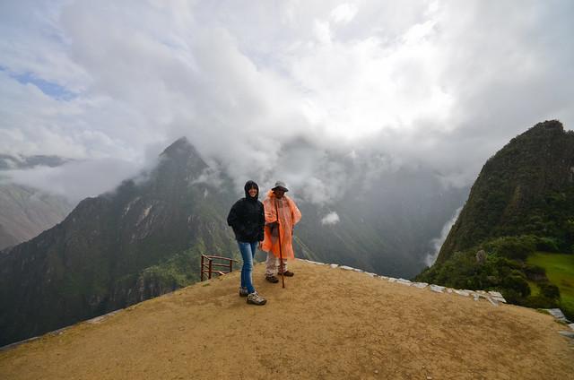 En uno de los miradores más espectaculares de Machu Picchu