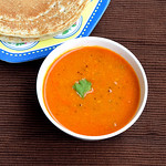 Tomato sambar for dosa