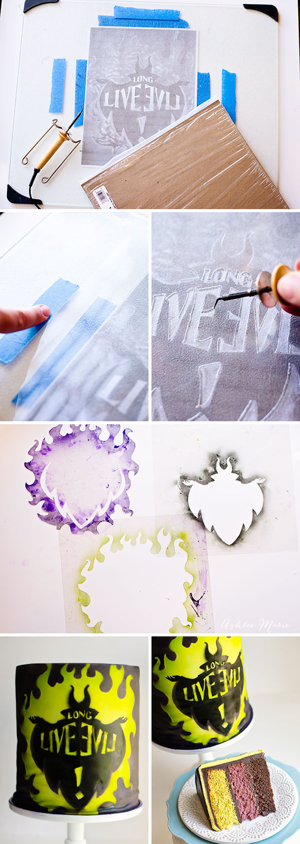 it's easy to make your own stencil that you can use for crafts and cake decorating
