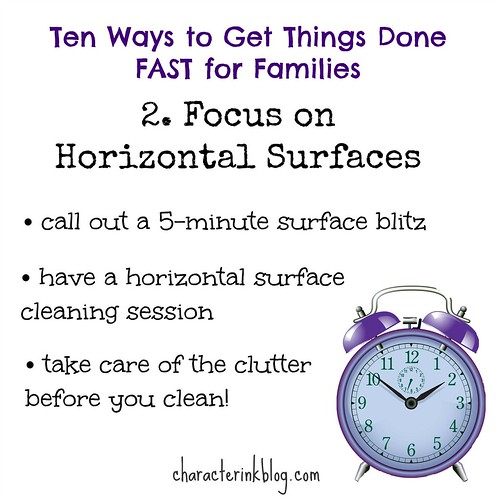 10 Ways to Get Things Done FAST - 2. Focus on Horizontal Surfaces