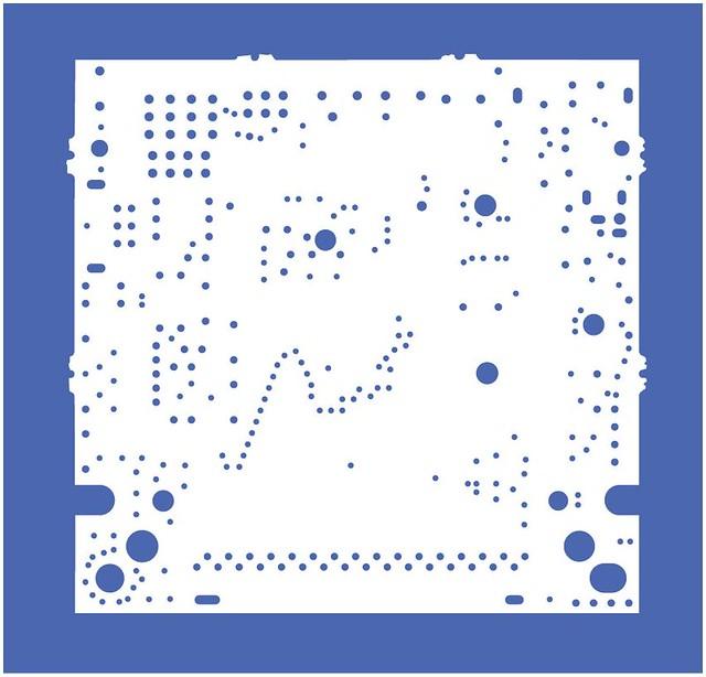Nintendo Gameboy DMGCPU-06 top layer separations