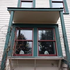 #hjertooshouse #greenhousewindow #kitchenwindow #awning #arbor #trellis #oldhouse #architecture