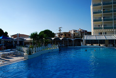 sea(0.0), estate(0.0), dock(0.0), marina(0.0), resort town(1.0), swimming pool(1.0), leisure(1.0), vacation(1.0), resort(1.0), condominium(1.0),