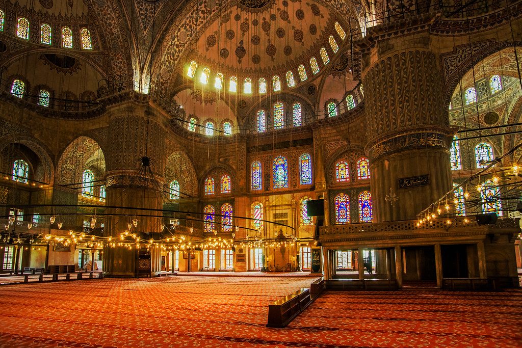 sultan ahmed mosque interior - istanbul 5
