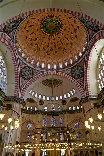 Inside the Suleymaniye Mosque