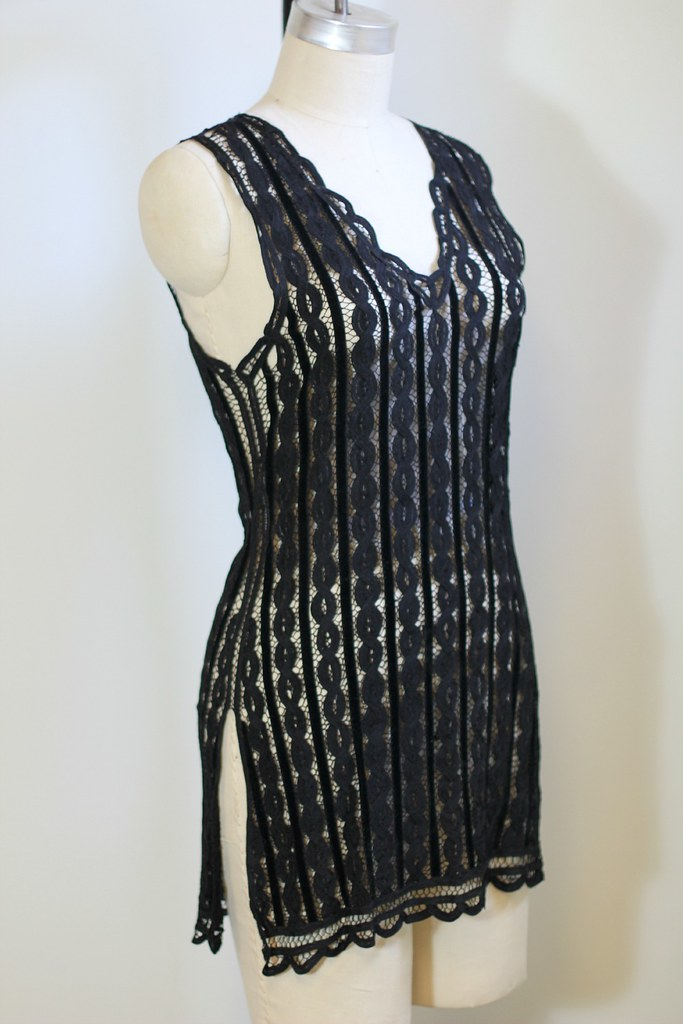 boho black lace dress 4
