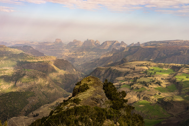 The Last Lookout Over the Ethiopian Mountains