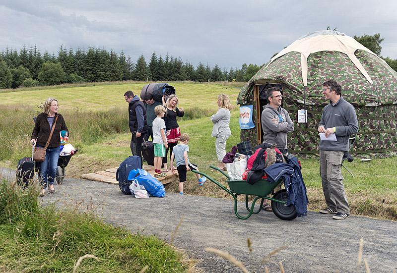 Wheelbarrow transport to the camp site