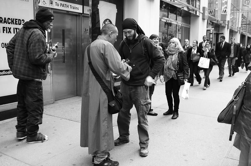 Buddhist Monks in Manhattan