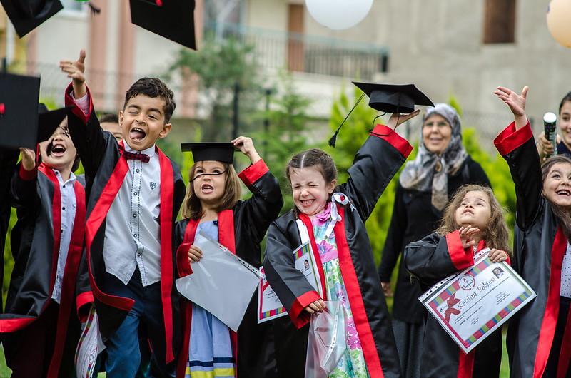 10 June - Joanna and her friends celebrating graduation - Kindergarten style.