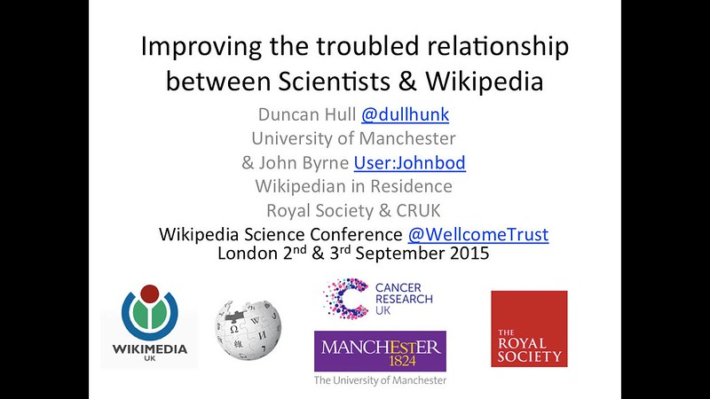 Improving the troubled relationship between Scientists and Wikipedia