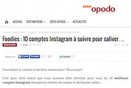 Foodies - 10 comptes Instagram à suivre pour saliver