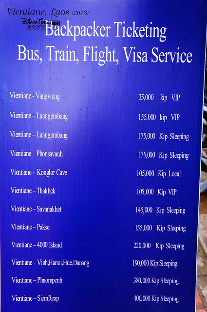 Laos 15 - Backpacker Ticketing