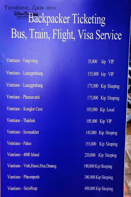 Laos 15 - Backpacker Ticketing