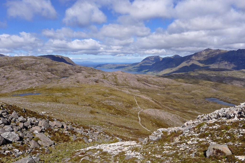 Upper Loch Torridon from the Bealach Ban