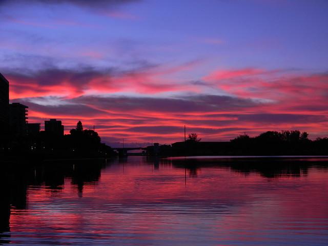 Red Sky at Morning, Nikon COOLPIX L110